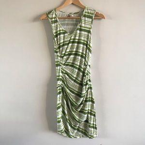 Green Striped Jersey Dress by Max Studio XS